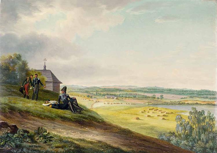 Rykonty, 3 July 1812, 1812 - Oswald Achenbach