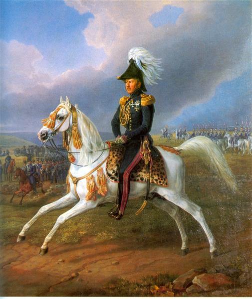 King Wilhelm I on Horseback, 1829 - Освальд Ахенбах