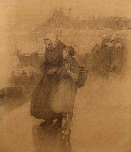 On the Quays, 1888 - Frank O'Meara