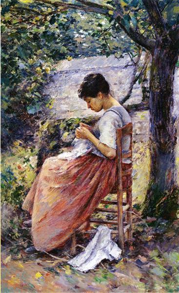 The Layette, 1882 - Theodore Robinson