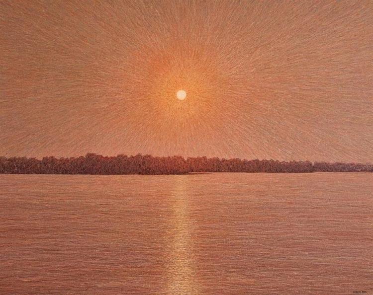 Sunrise over the Dnipro River, 2004 - Ivan Marchuk