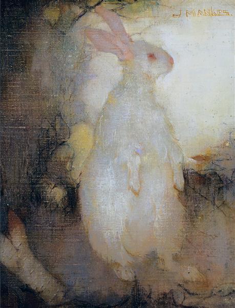 White Rabbit, Standing, 1910 - Jan Mankes