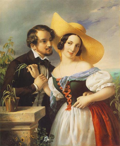 Flirtation, 1841 - Miklós Barabás