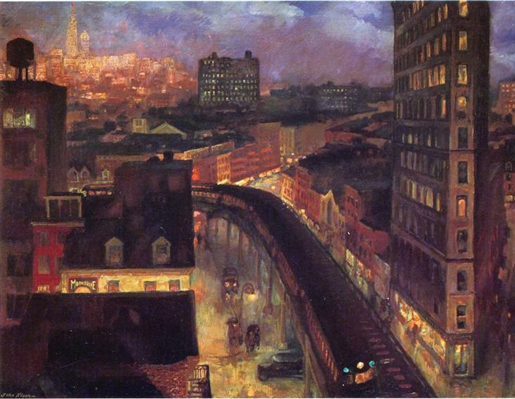 The City from Greenwich Village, 1922 - John French Sloan