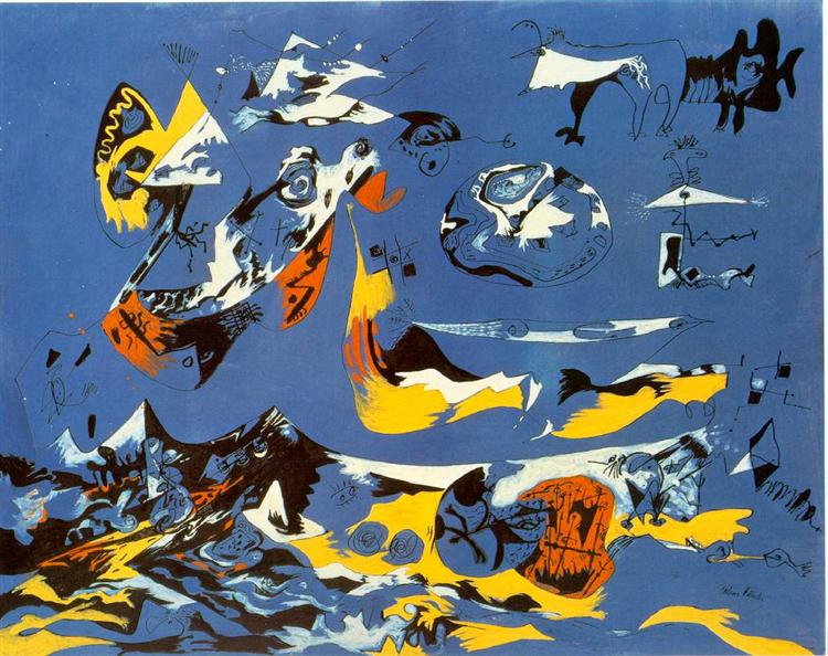 Blue (Moby Dick), 1943 - Jackson Pollock