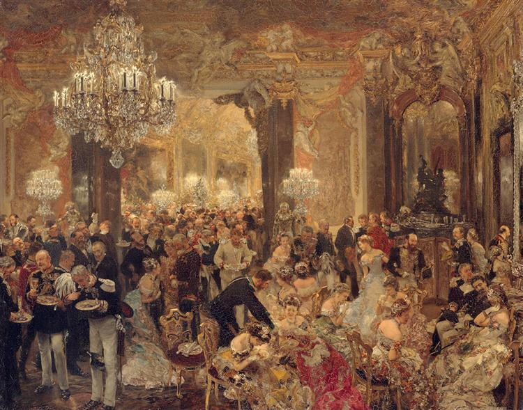 The Dinner at the Ball, 1878 - Adolph von Menzel