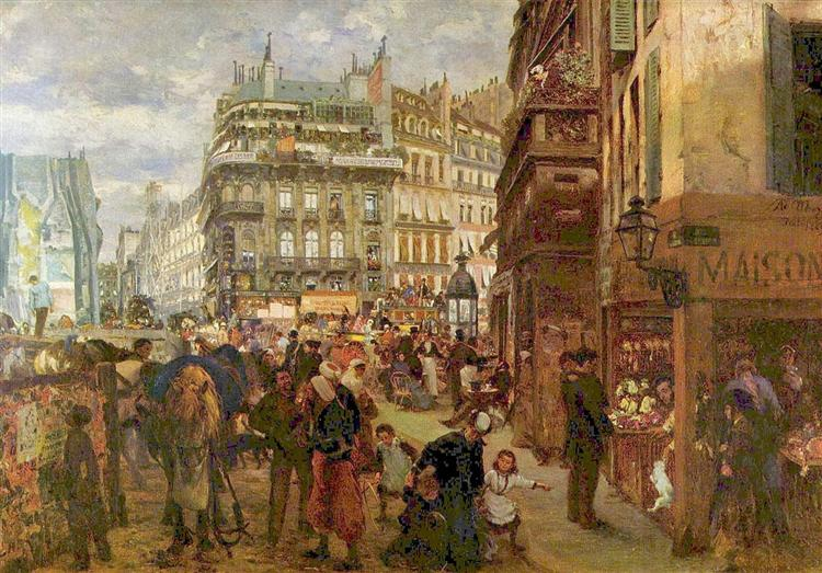 Weekday in Paris, 1869 - Adolph Menzel