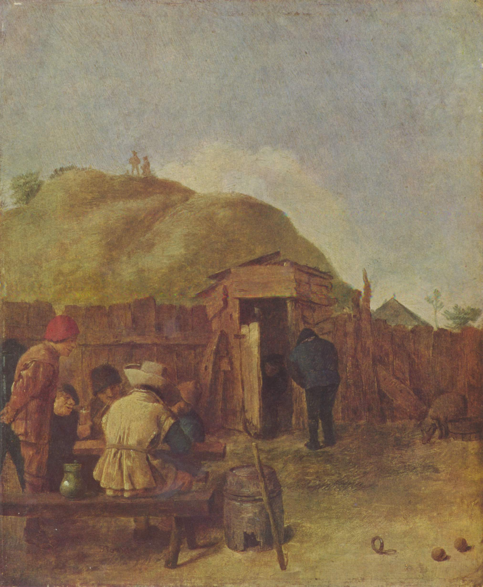 Drinkers in the yard, 1631