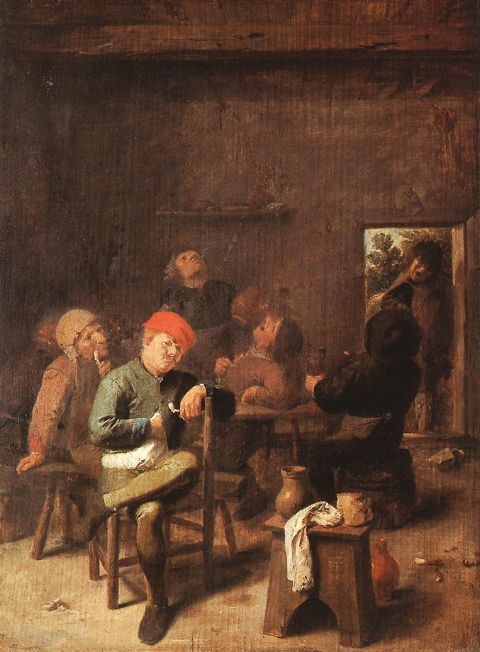 Peasants Smoking And Drinking, 1635