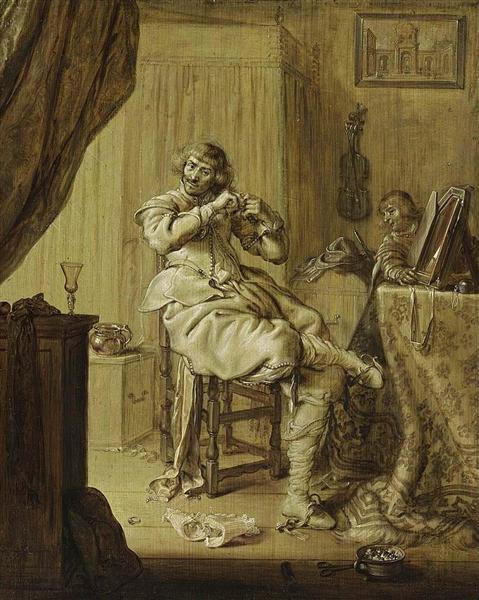 A Cavalier at His Dressing Table, 1631 - Adriaen van de Venne