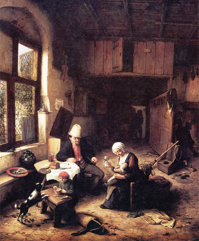 The Interior Of A Peasant S Cottage 1668 Adriaen Van