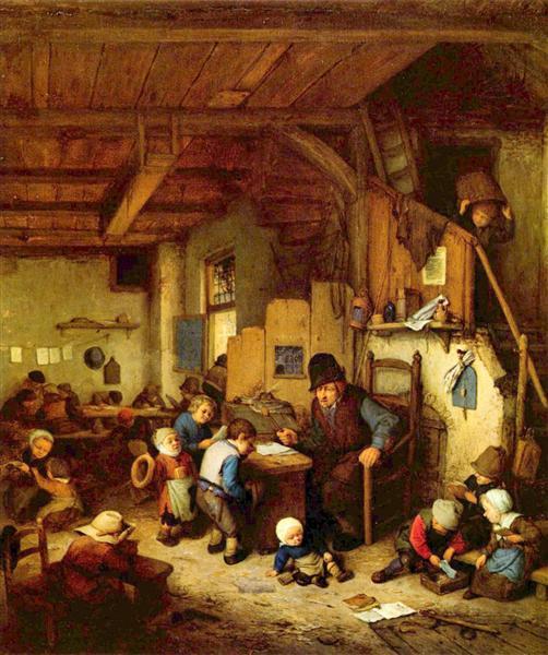 The Schoolmaster, 1662 - Адриан ван Остаде