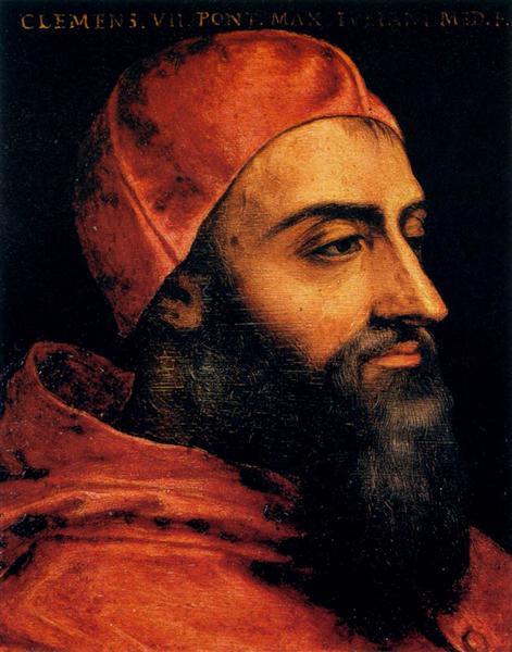 Portrait of Pope Clement VII - Agnolo Bronzino