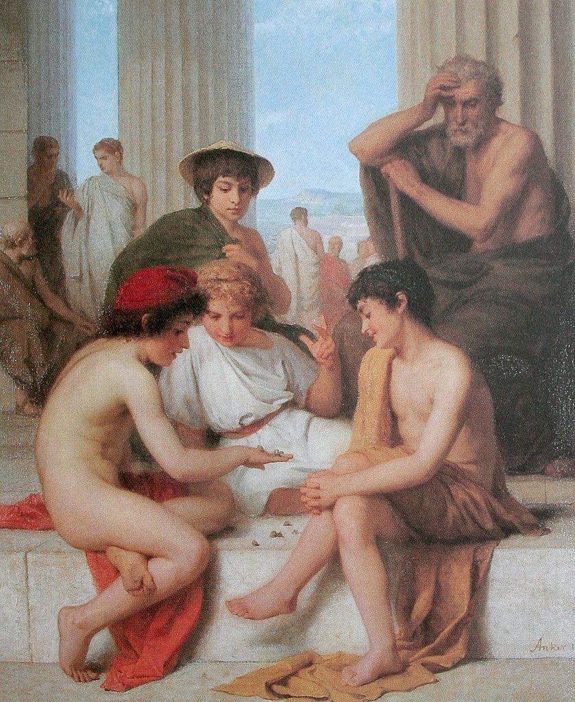 Die Knöchelspieler, 1864