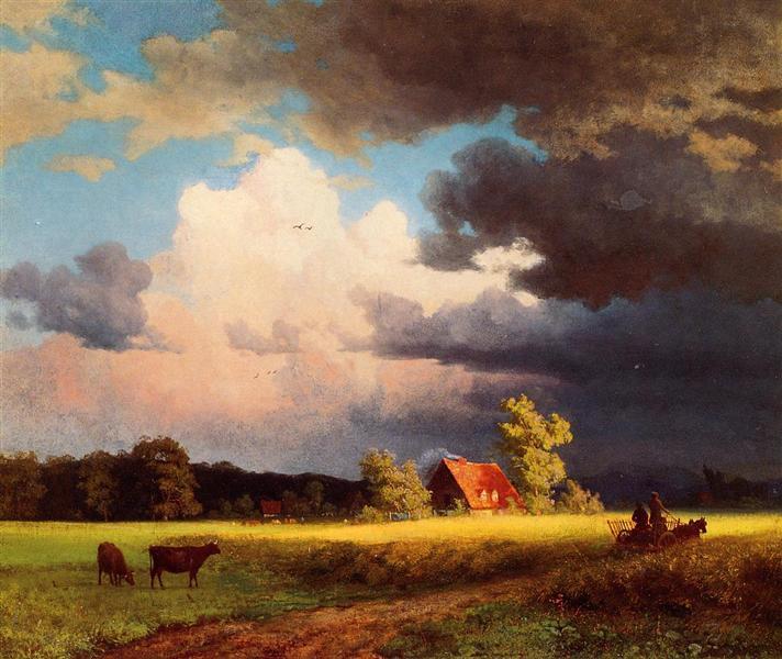 Bavarian Landscape, 1850 - Albert Bierstadt