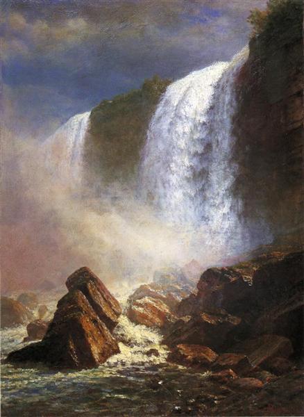 Falls of Niagara from Below, 1850 - Альберт Бірштадт