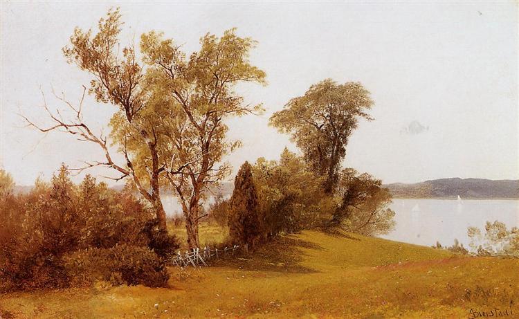 Sailboats on the Hudson at Irvington, c.1886 - c.1889 - Albert Bierstadt