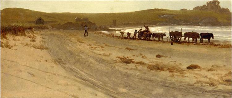 Seaweed Harvesting - Albert Bierstadt