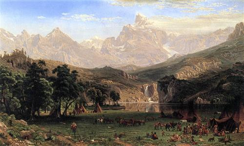 analysis of albert bierstadts the rocky mountains landers peak essay Albert bierstadt: art and industry, the first-rate retrospective opening  the  rocky mountains, lander's peak -- roughly 6 feet tall and 10 feet wide  their  catalogue essays and chronology go a long way toward providing a.