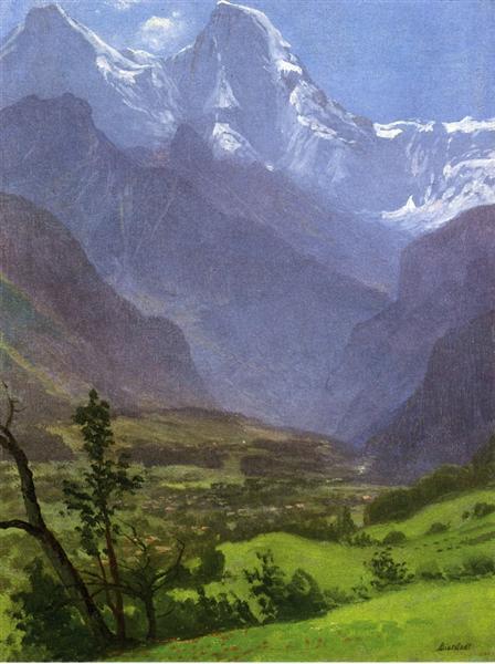 Twin Peaks, Rockies - Albert Bierstadt