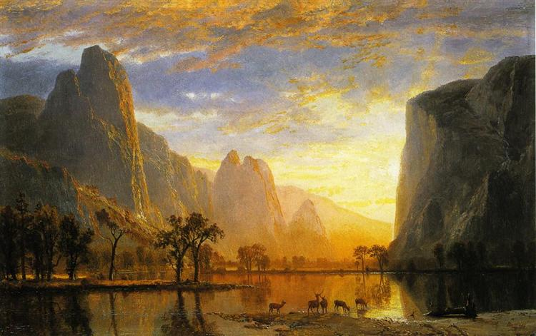 Valley of the Yosemite - Альберт Бірштадт