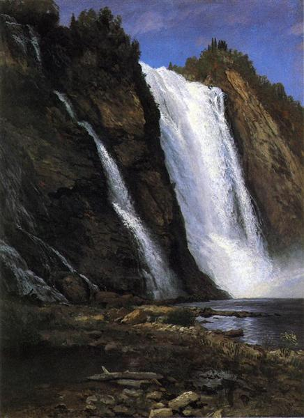 Waterfall - Albert Bierstadt