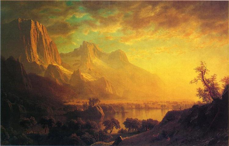 Wind River, Wyoming, c.1870 - Albert Bierstadt