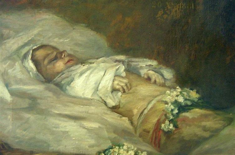 Enfant Mort (detail), 1881 - Albert Dubois-Pillet