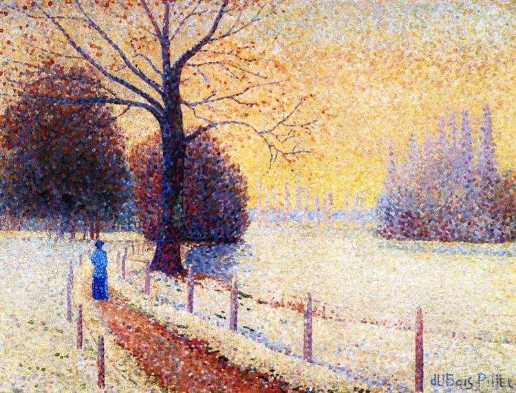 Le Puy in the Snow, 1889 - Albert Dubois-Pillet