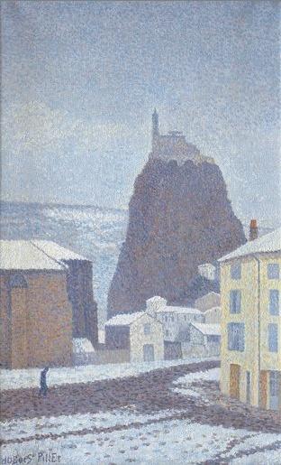 Saint-Michel d'Aiguilhe (Haute-Loire) Under Snow, 1890 - Albert Dubois-Pillet