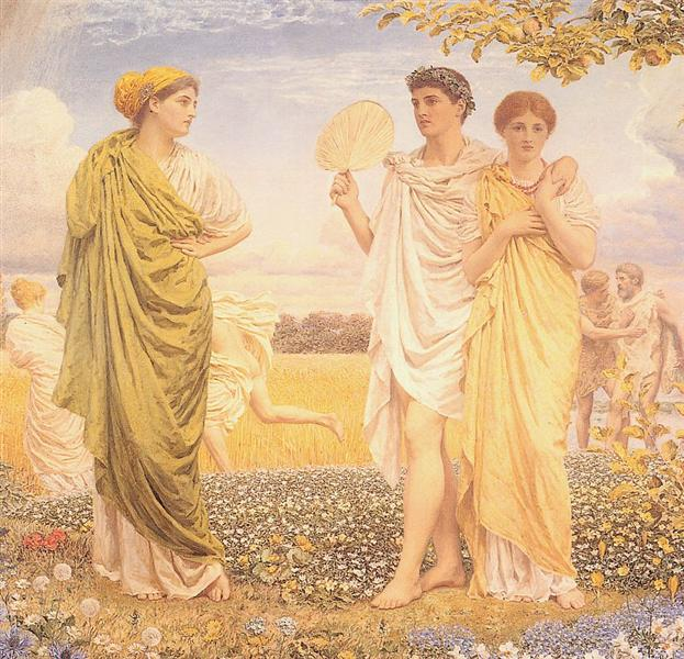 Loves of the Wind and The Seasons, c.1892 - Albert Joseph Moore