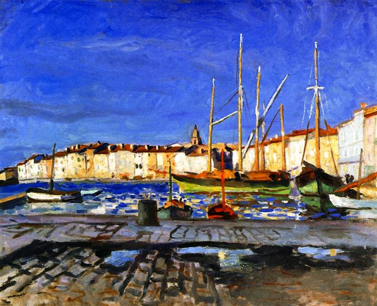 The Port of Saint-Tropez, 1905 - Альбер Марке
