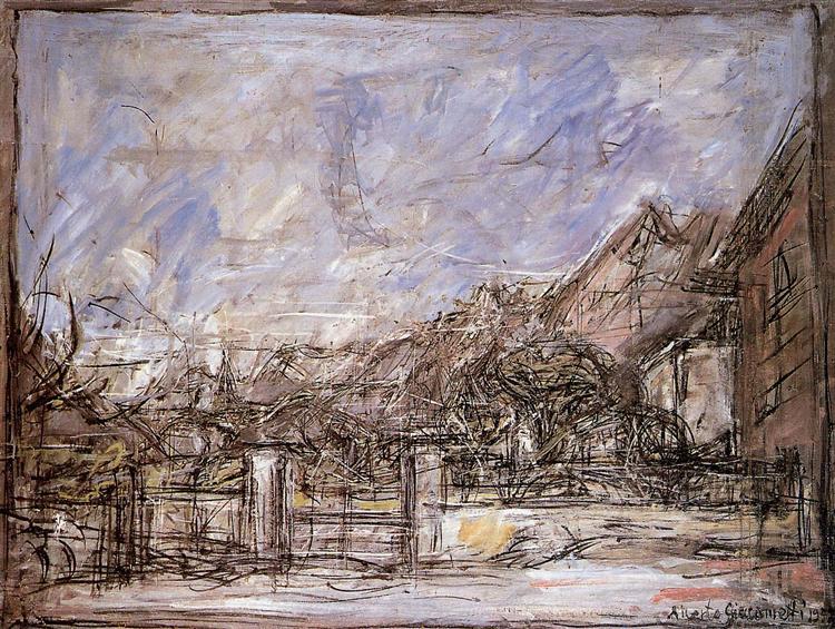 Landscape near Stampa Sun - Alberto Giacometti