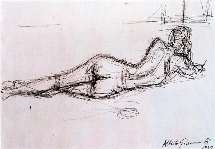 Naked Lying Back - Alberto Giacometti