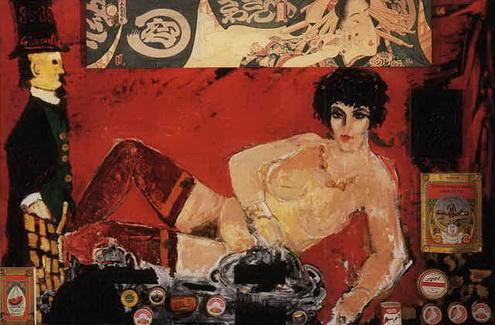 M. Degas visita a Sonia, 1988 - Alberto Gironella