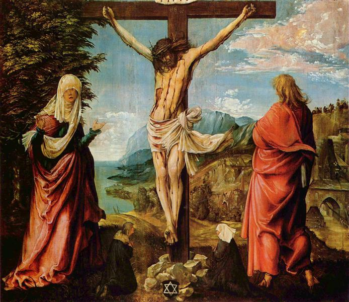 Crucifixionscene,Christon the Cross withMary and John, 1515 - 1516 - Albrecht Altdorfer