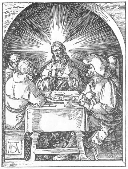 Christ and the Disciples at Emmaus, 1511 - Albrecht Durer