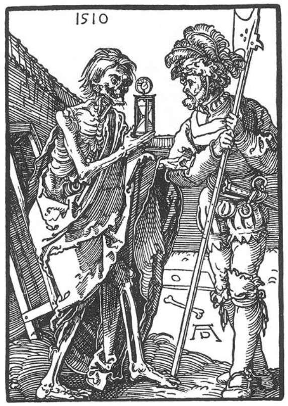 """Image result for Альбрехт Дюрер (1471-1528) """"Смерть и ландскнехт»"""