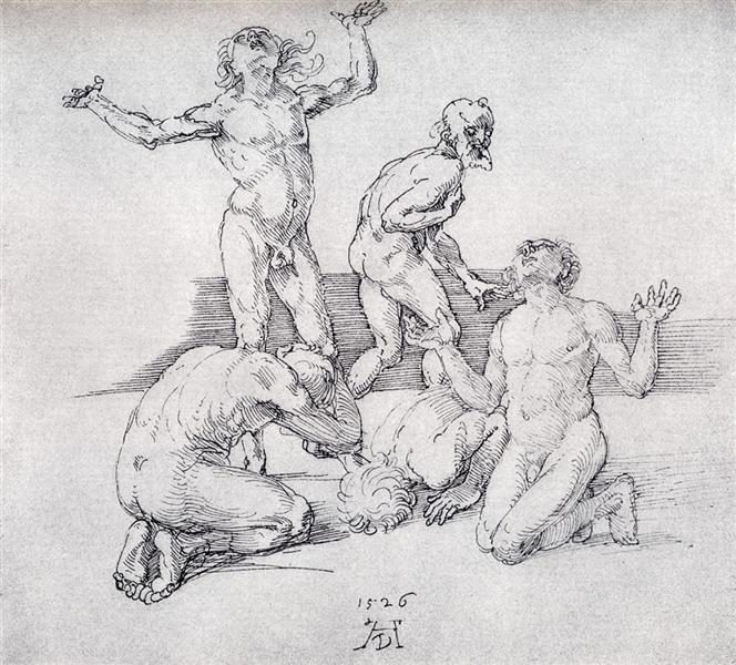 Five Male Nudes, 1526 - Albrecht Durer