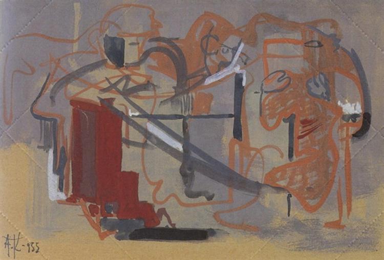 Composition, 1955 - Alekos Kontopoulos