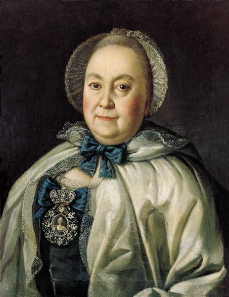 Portrait of Countess M.A.Rumyantzeva - Antropov Aleksey