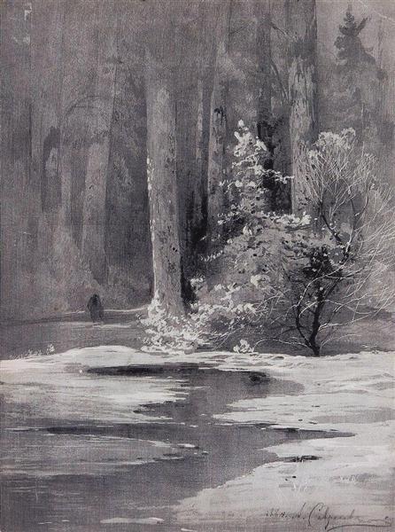 Early spring.Backwoods, 1884 - Aleksey Savrasov