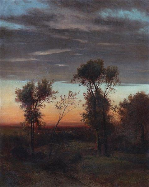 Evening, c.1860 - c.1870 - Aleksey Savrasov