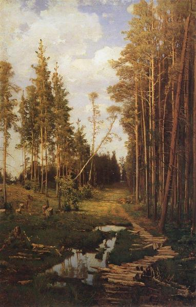 Glade in a pine forest, 1883 - Aleksey Savrasov