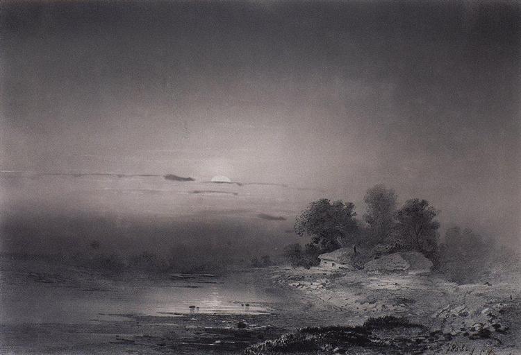 Moonlit Night, 1853 - Aleksey Savrasov
