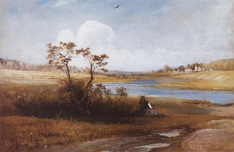 Near the village of St Michael Pskov province - Alekséi Savrásov