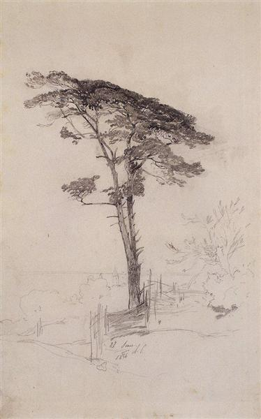 Pine, 1854 - Aleksey Savrasov