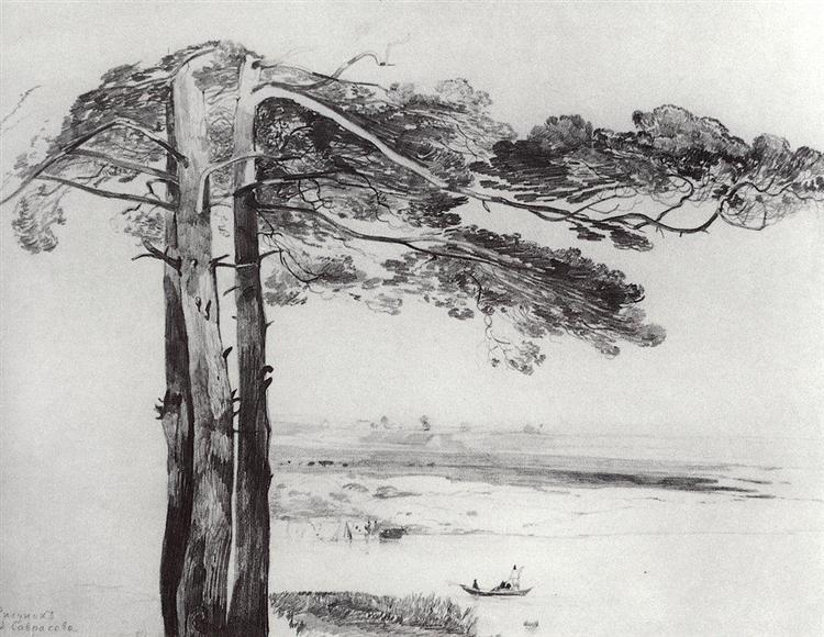 Pine from Gusareva, c.1850 - Aleksey Savrasov