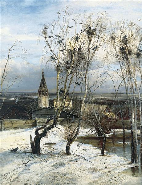 The Rooks Have Come Back, 1871 - Alexei Kondratjewitsch Sawrassow