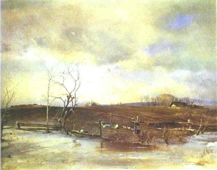 Spring. Kitchen Gardens, 1893 - Aleksey Savrasov